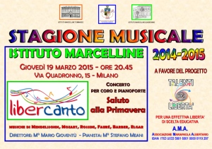 save the date - Libercanto 19 marzo 2015